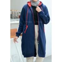 Jaket muslimah Hijacket Basic Navy size XL original