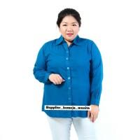 Kemeja Wanita Terlaris Basic Rayon Tosca Tua Jumbo LD 118 cm XXL