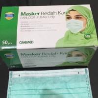 Masker Hijab 3ply earloop Onemed