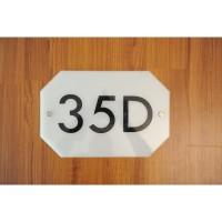 Nomor Rumah Akrilik / Sign Rumah Akrilik