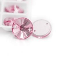 Crystal Payet Jahit Austria Rivoli 10mm - Light Rose Kristal