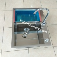 paket kitchen sink bak cuci piring stainless model bolzano onan 6046