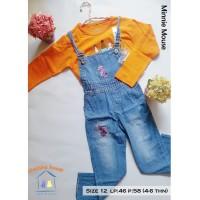 Overall Celana Jeans Anak Perempuan Sablon (3-6 tahun)