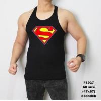 Baju kaos singlet Pria superman Black hero