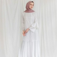 Kirana Dress White by Vanilla Hijab