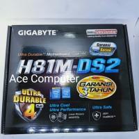 MOTHERBOARD GIGABYTE H81M-DS2 SOCKET 1150 HASWELL RESMI