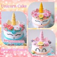 Unicorn Cake, Buttercream Cake, Kue Ulang Tahun