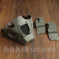 Tactical Iron Warrior Half Face Protection Mask for Helmet Airsoft