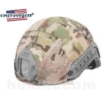 Emerson FAST Helmet Cover with Camo Velcro - Multicam