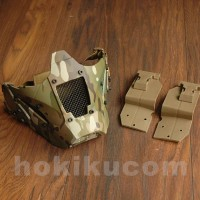 Tactical Iron Warrior Half Face Protection Mask for Helmet Multicam
