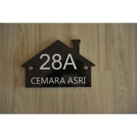 Nomor Rumah Akrilik / Sign Rumah Akrilik idea066