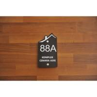 Nomor Rumah Akrilik / Sign Rumah Akrilik idea074