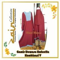 Gamis Dewasa Umbrella Kombinasi V bahan Wollycrepe