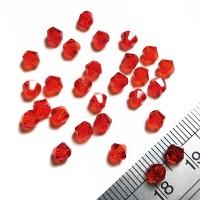 Crystal Austria Jahit Bicone 4mm - Light Siam Merah