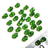 Crystal Austria Jahit Bicone 4mm - Emerald Hijau