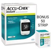 Accu Chek Instant + 50 Test Strip Alat Gula Darah Accu Check