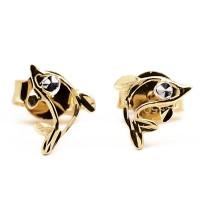 Anting Emas Model Dolpin Lumba Gold Earring 18K