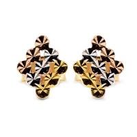 Anting Emas Cantik Tritone Gold Earring 18 K