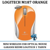 Mouse Logitech M 187 Wireless Mini - 910-002782 - Original - Orange