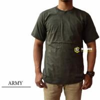 Kaos Polos Pendek Army 100% Cotton Combed 30S Pria dan wanita ( S