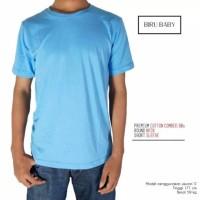 Kaos Polos Pendek Blue Baby Cotton Combed 30S Pria dan wanita Size