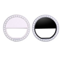 Portable LED Ring Flashlight Camera PhotographY-adapter For
