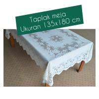 Taplak meja persegi panjang home living + 135 x 180 cm / bawang 915