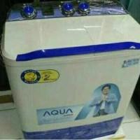 PROMO MESIN CUCI 2TABUNG AQUA 7KG QW-781XT