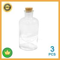 Set Vas Botol Kaca 3 Pcs