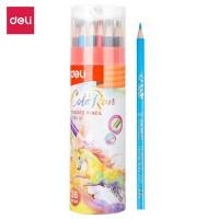 Deli EC00337 Pensil Warna 36 Warna dengan Bonus Rautan Pensil baru