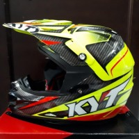 Helm Motor Full Face Kyt Cross Over Super Fluo Power Series
