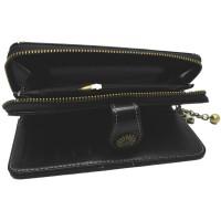 Dompet Kulit Wanita Long Zipper - 170 - Black BEST SALE