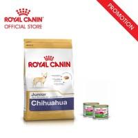 Royal Canin Chihuahua Junior Makanan Anak Anjing Dry 1,5kg&2 Wet Food