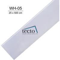 TECTO Plafon PVC WH-05 ( 25 cm x 500 cm )