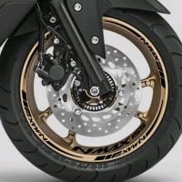 Stiker list velg motor wheels sticker Yamaha Nmax 155 Black ring 13