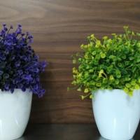 Informa Bunga Artifisial Dengan Pot 12X20 Cm - Putih Top Notch