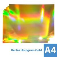 Kertas Hologram Emas 300 gsm A4 - Paper Gold
