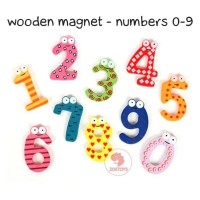 Zoetoys Magnet Wooden Numbers | mainan edukasi | mainan anak | edutoys