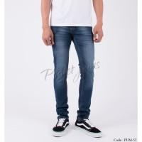 Celana jeans skinny dark blue wash denim pensil cowok skiny pum52
