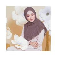 Pleated Hijab MS18 Impor Jilbab Plisket Pashmina Katun Modis Cutton Sc