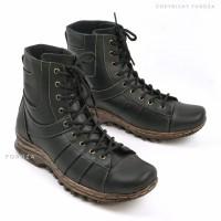 Sepatu Boots Pria Touring High Top Advanture Boot kulit asli 701