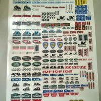 Stiker Rc Adventure Scale Offroad WPL C14 C24 MN45 MN90 Ukuran A3 V1