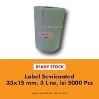 Label Barcode Ukuran 33x15 mm 3 Line