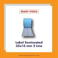 Label Barcode Ukuran 33x15 mm 2 Line