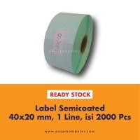 Label Barcode Ukuran 40x20 mm 3 Line