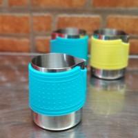 Milk Jug Rubber Karet Stainless Steel Jug Kopi Latte Susu 350ml
