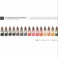 dr drawing liquid type microblading pigment ink/tinta sulam alis