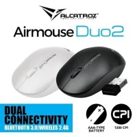 Alcatroz Airmouse Duo2 # Bluetooth dan 2.4G Wireless Mouse