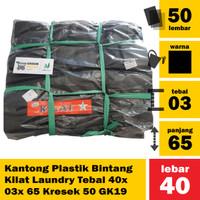A15 - Kantong Plastik Bintang Kilat Laundry Tebal 40x 03x 65 Kresek 50