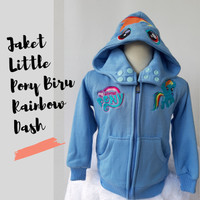 Jaket Anak Little Pony Biru